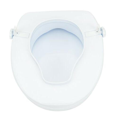 "Modern 4"" Elevated Toilet Seat Cover"