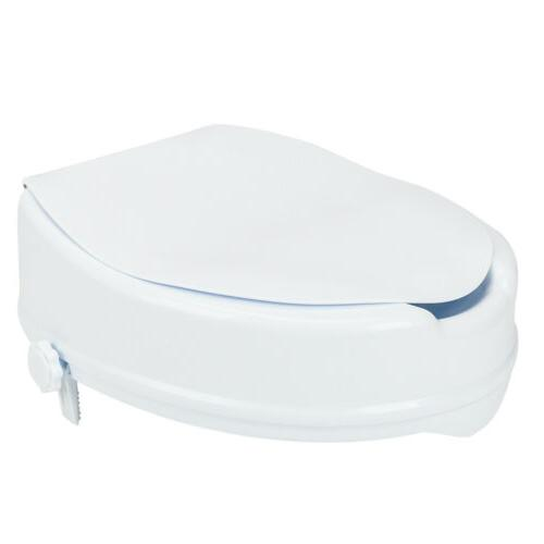 "4"" Raised Toilet Seat Medical Toilet Open Front"