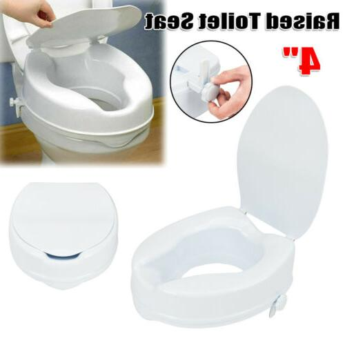 4 raised toilet seat medical elevated elongated