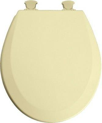 Bemis Mfg 41EC 031 Toilet Seat, Round, Harvest Gold Wood - Q