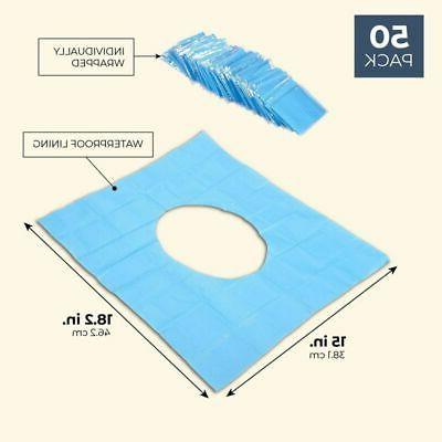 50 Disposable Toilet Covers Fits Over-Standard