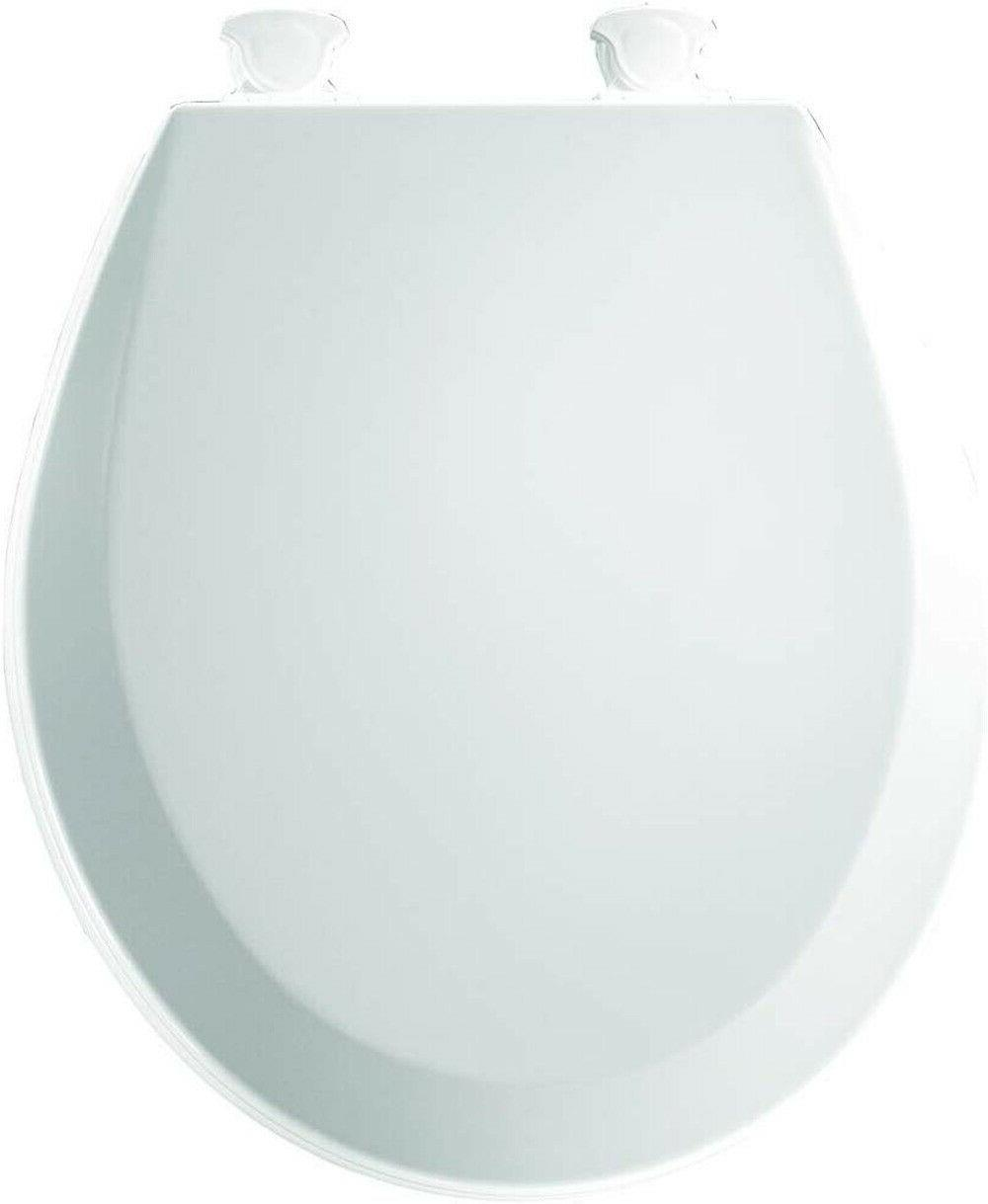 BEMIS 000 Toilet Seat & Hinges, ROUND, Durable