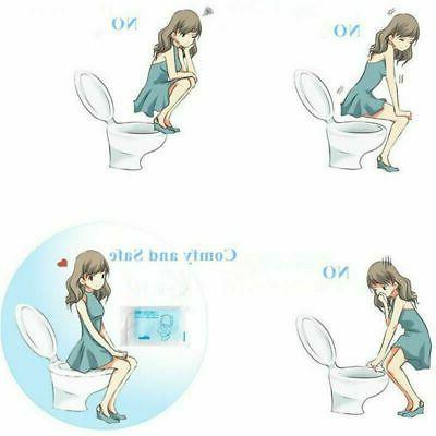 50PCS Toilet Seat Disposable Travel WC Toilet Mat
