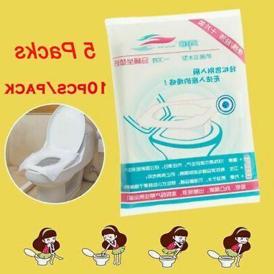 50PCS Disposable Waterproof WC Pad Mat