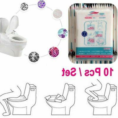 50pcs toilet seat covers disposable waterproof travel