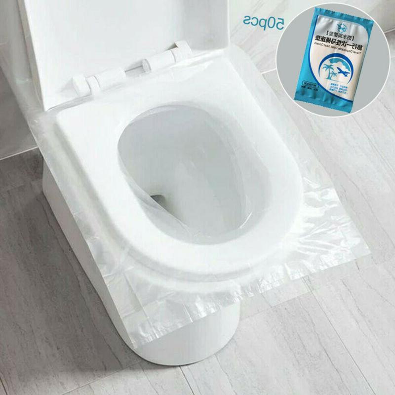 50pcs disposable toilet seat covers paper travel