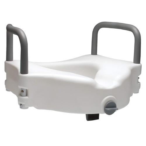 Lumex 6487RA-1 Locking Raised Toilet Seat with Removable Arm