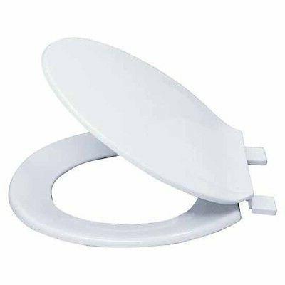 Ez-Flo 65901 Round Plastic Toilet Seat White Seat