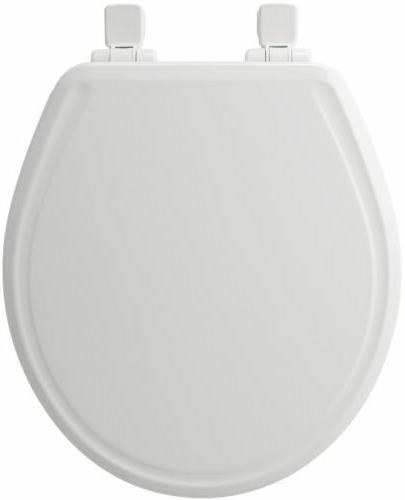 Church Round White Plastic Toilet