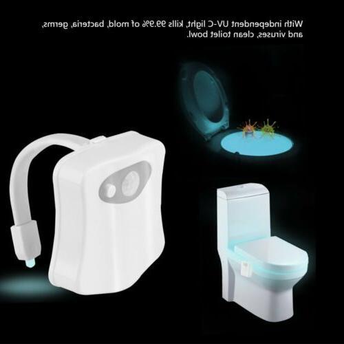 8 Colors Toilet Lights Sensor Bathroom Seat