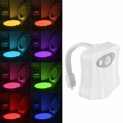 8 colors automatic led toilet night lights
