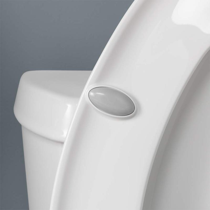 Round Toilet Seat Easy Hinge, White