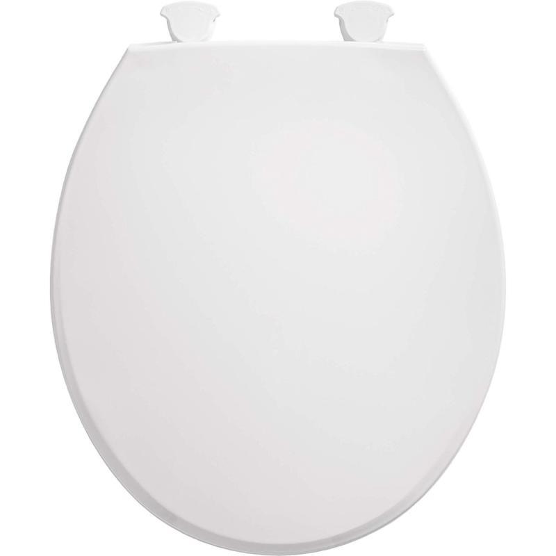 Bemis 800EC 000 Round Toilet Seat Easy Clean & Change Hinge,