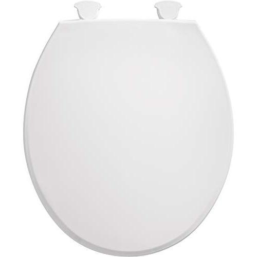 Bemis 800EC 000 Round Toilet Seat Easy & Change Hinge, White