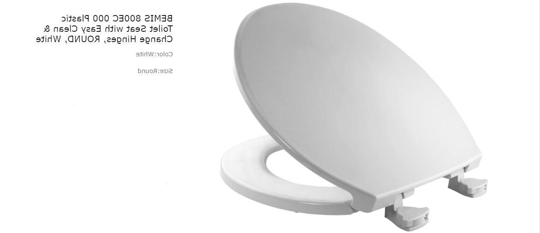 Bemis 800EC 000 Round Toilet Seat Easy & Hinge, White