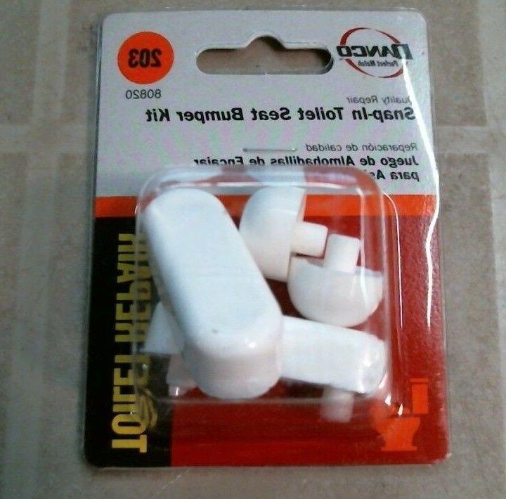 80820 snap in toilet seat bumper kit