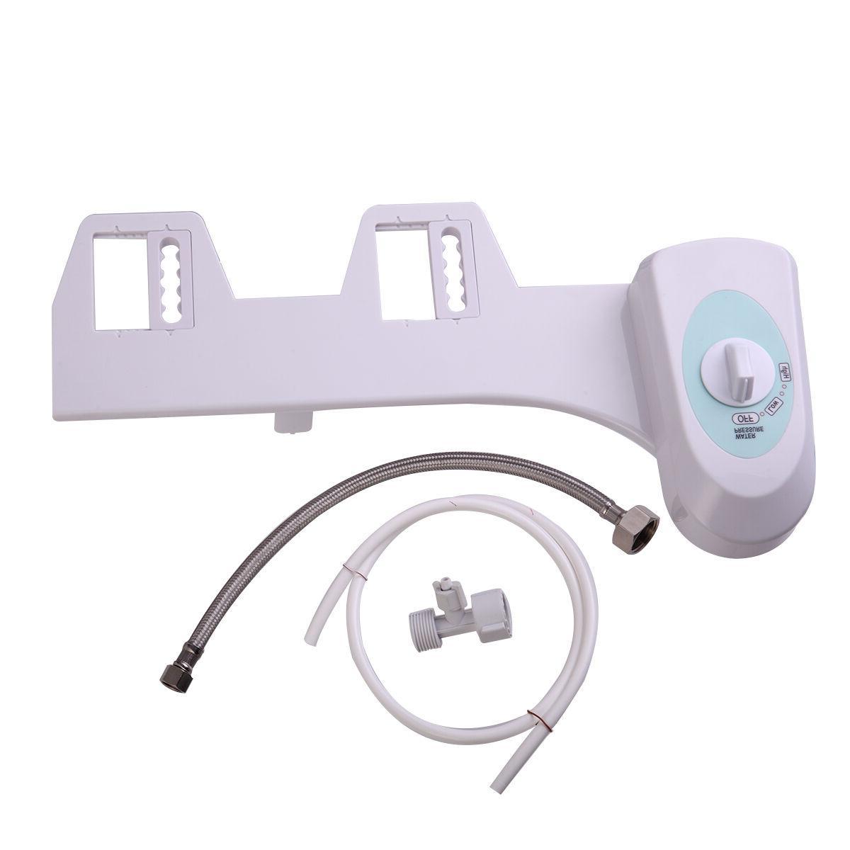 Adjustable Non-Electric Mechanical Bidet Flash Toilet Attachment