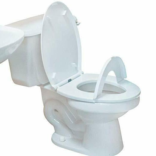 adult size elongated toilet seat converts to