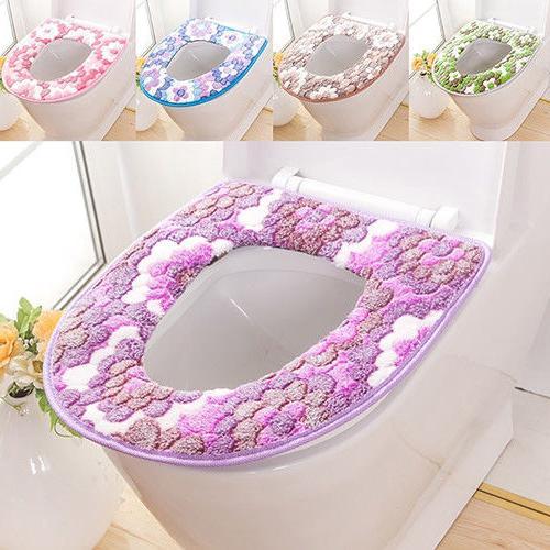 AG_ Flower Print Warm Lid Pad Cushion t