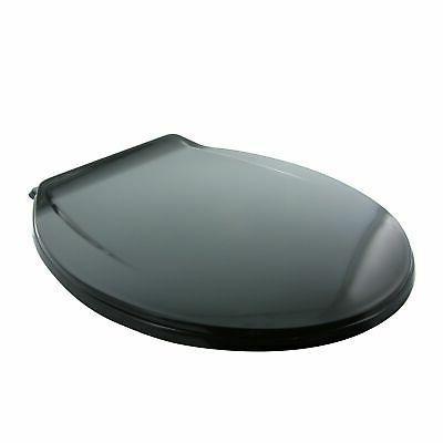 AquaPlumb CTS90BK Round Toilet Seat,