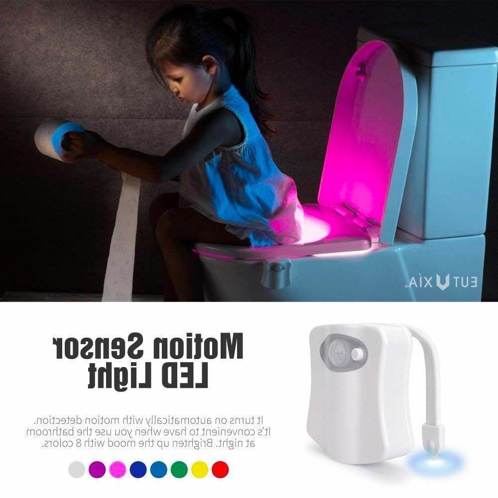 automatic 8 color led toilet bathroom night
