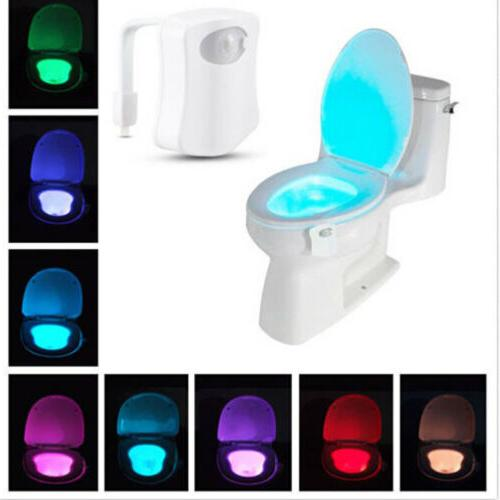automatic 8 colors led toilet night lights