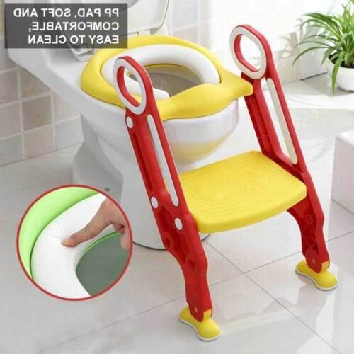 Baby Kids Potty Training Seat with Step Stool Ladder Child T
