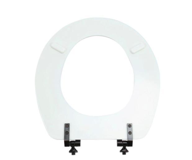 BEMIS Closed Toilet Lid White Metal Hinges