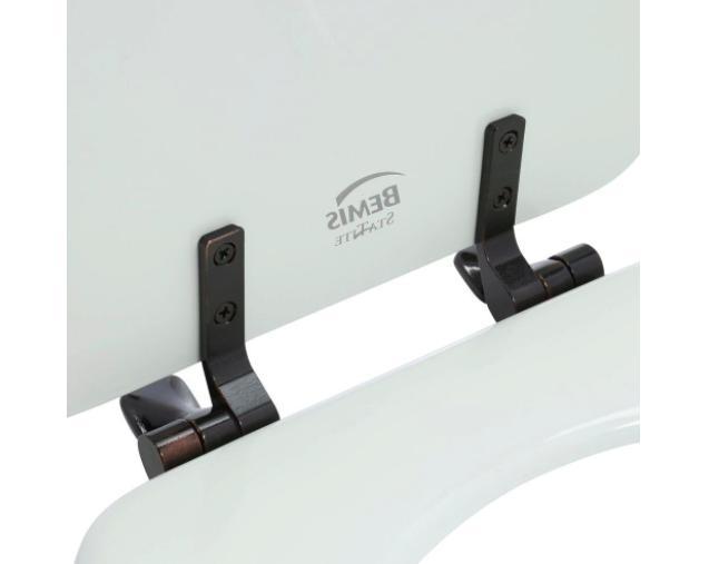 BEMIS Bathroom Round Closed Front Toilet Lid Metal Hinges