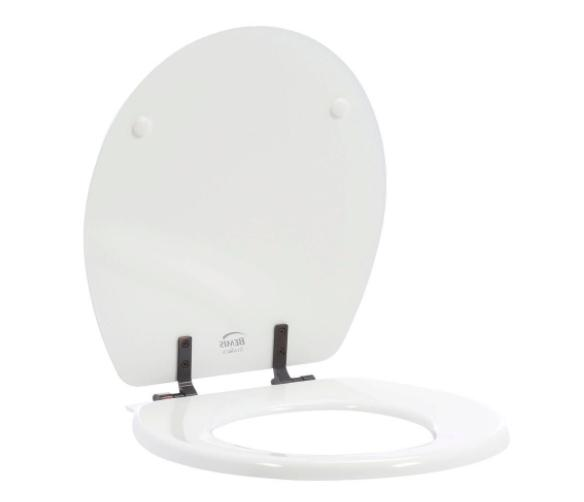 bathroom round bowl closed front toilet seat