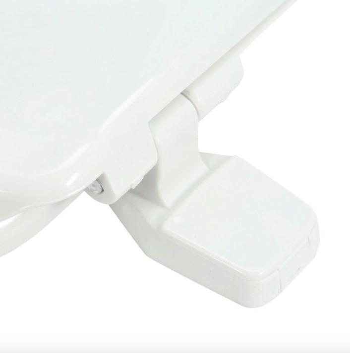 Bathroom Round Front Toilet Seat White Cover Hardware