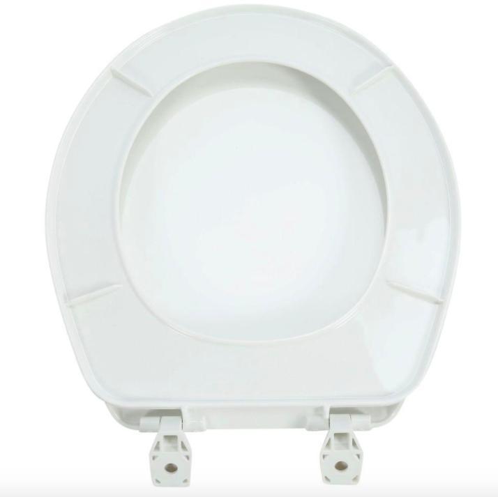 Bathroom Closed Toilet Seat White Lid Cover Plastic