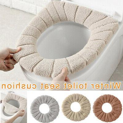 Bathroom Toilet Seat Cushion Closestool Washable Soft Warmer