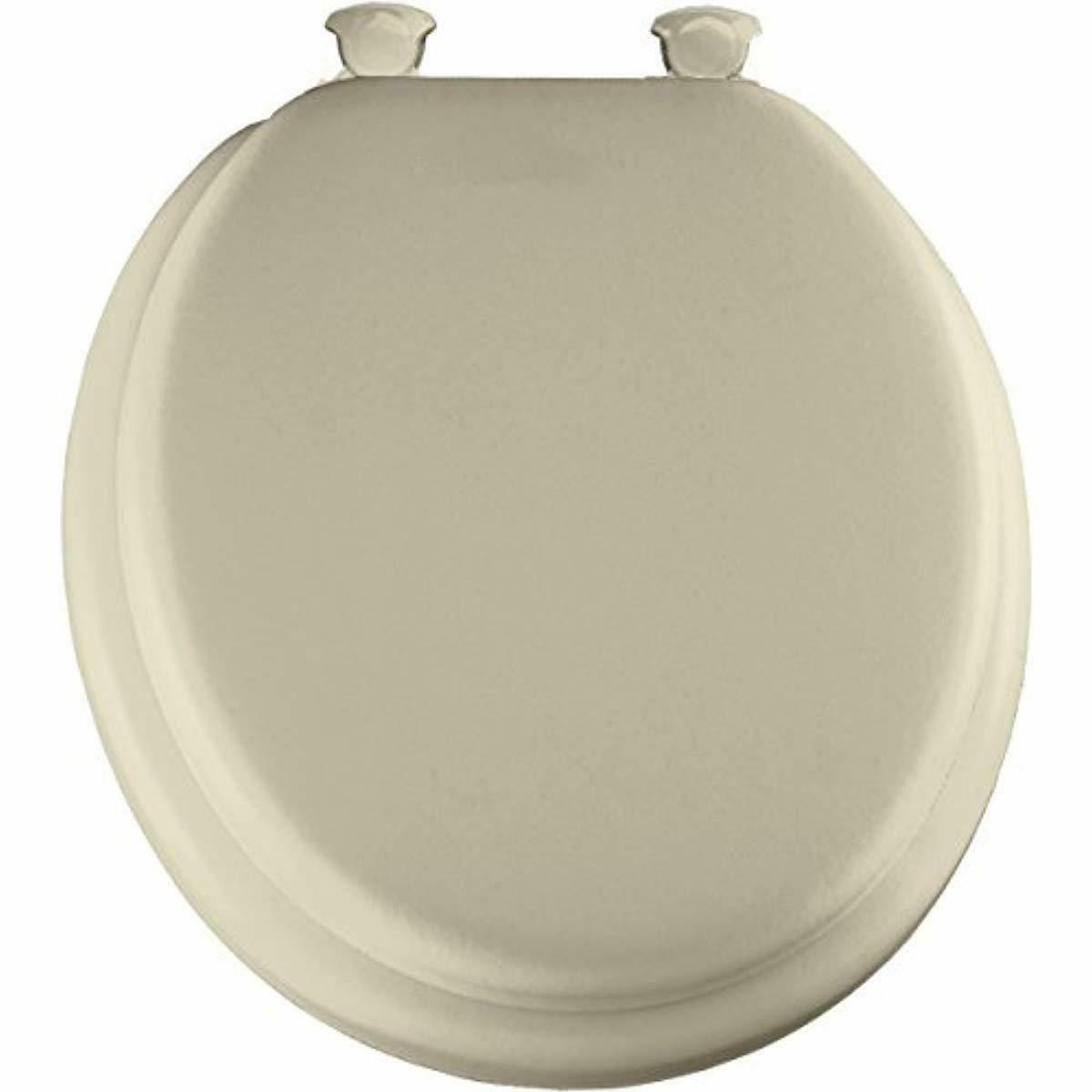 MAYFAIR Soft Toilet Seat Easily Remove Round Padded with Woo