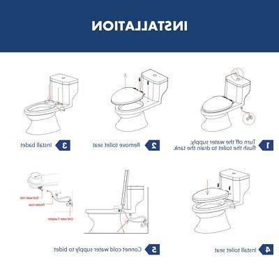 Bidet Toilet Water Attachment Spray Cold