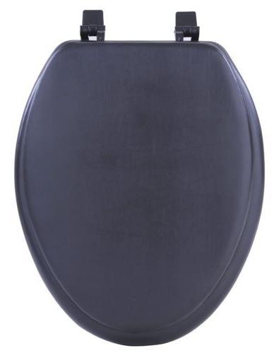 Black Soft Padded Toilet Seat Premium Cushioned Elongated Co