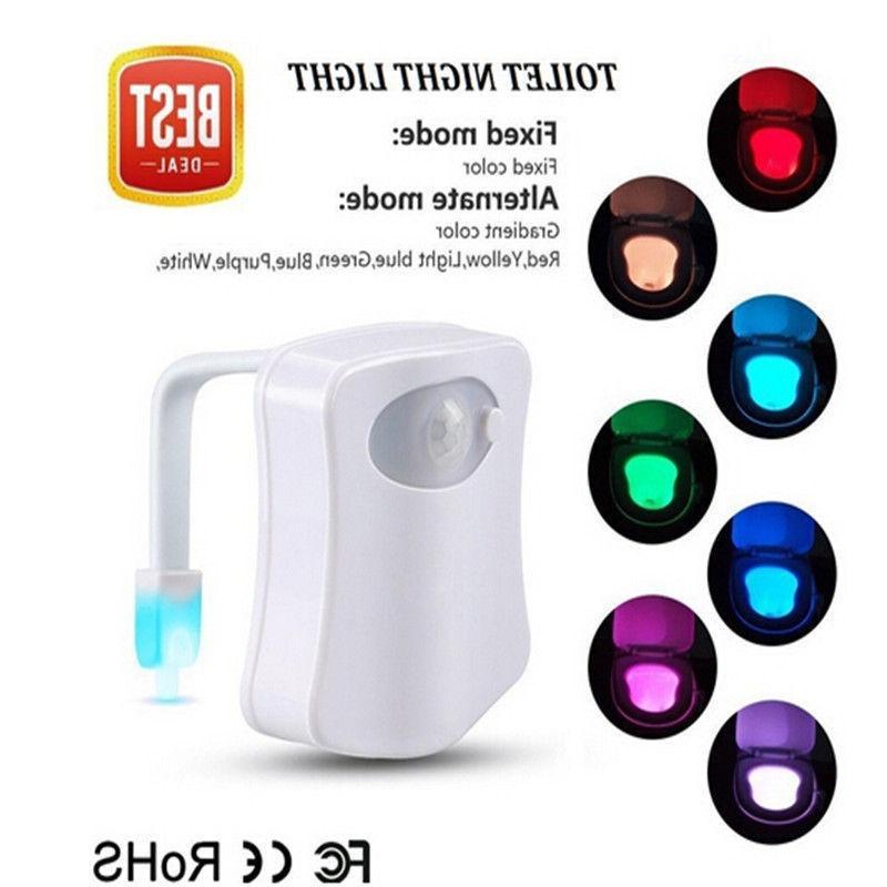 Toilet Night 8 Color Sensor bowl Seat Lamp