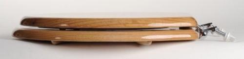 Comfort Seats Designer Solid Wood with Elongated, Oak