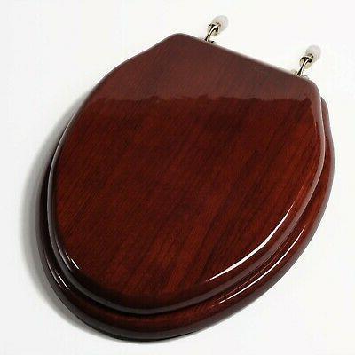 c1b1e16br c1b1e16br toilet seat elongated mahogany finish