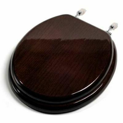 c1b1r 18ch round solid oak wood toilet