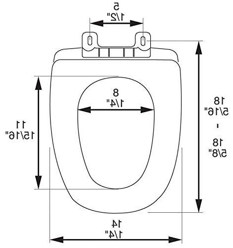 Comfort Close Eljer Emblem Plastic Toilet