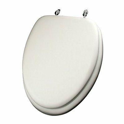 Comfort Seats C1B5E2-00 Deluxe Soft Toilet Seat with Wood Co