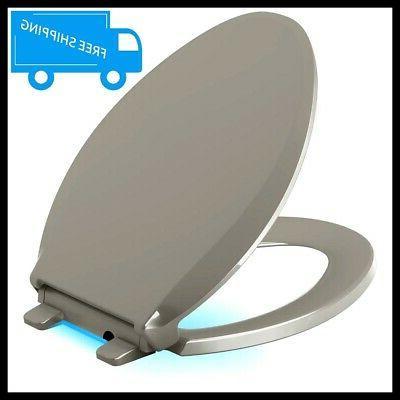 KOHLER Cachet LED Nightlight Round Closed Front Toilet Seat
