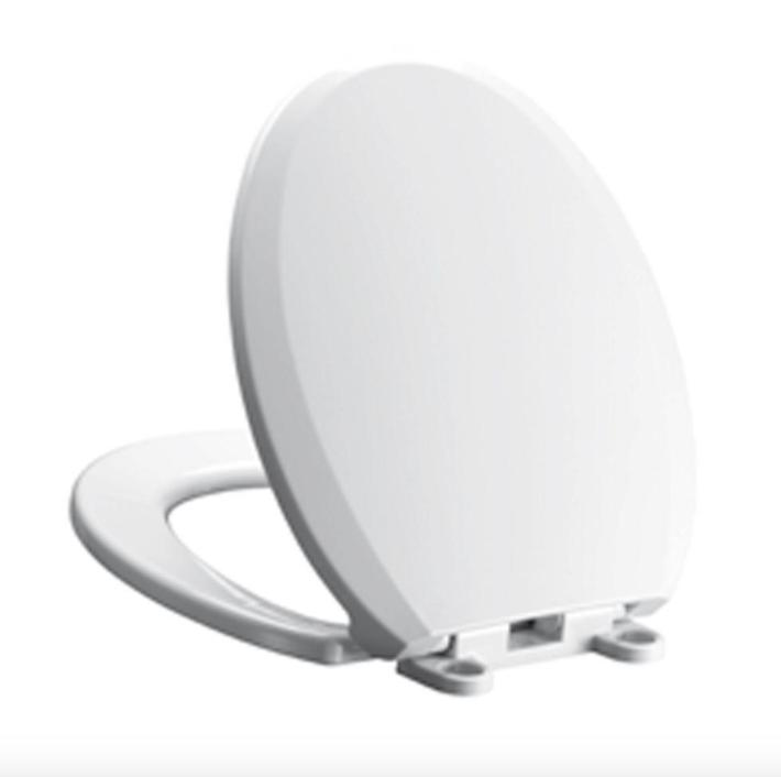 Cadet 3 Slow Close Round Toilet Seat - Finish: White