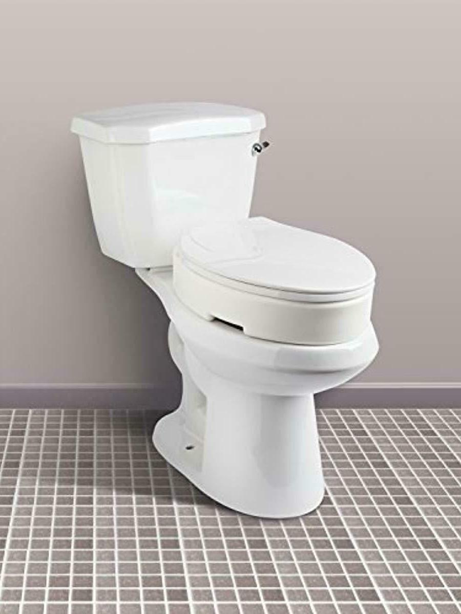 Carex Elongated Seat 3.5 Inches Toilet Lift,