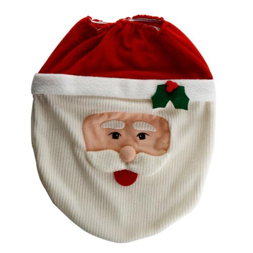 Christmas Bathroom Toilet Mat Holiday