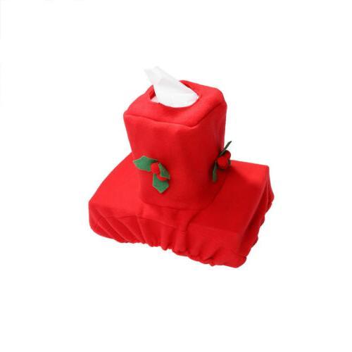 Christmas 3pcs/Set Toilet Seat Cover Mat Decoration
