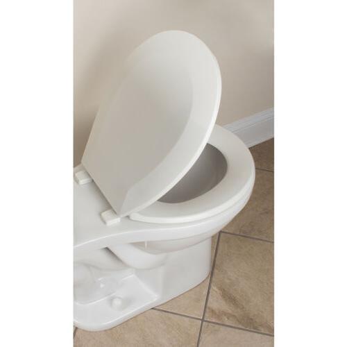 CLOSED TOILET SEAT Round Plastic White