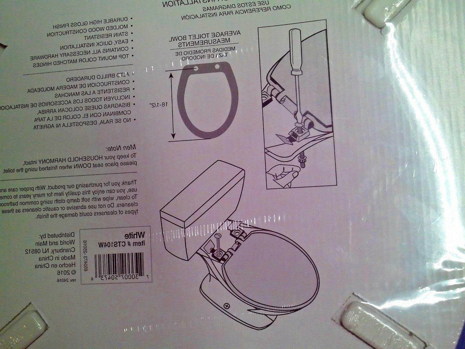 Aqua Plumb Wood Toilet Seat White Sealed