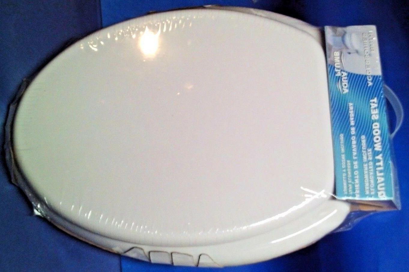 Aqua Plumb CTS104W Wood Toilet Seat White Sealed